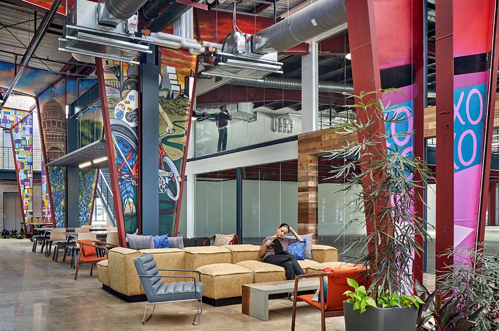 View of Communal Lounge Space. Photo credit: © Dror Baldinger, FAIA