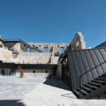 RHEINZINK-GRANUM in Basalte and Skygrey finishes now available for architectural zinc roofing, façade and wall cladding