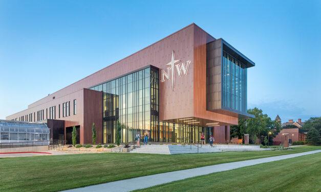 Northwestern's DeWitt Family Science Center coated in Fluropon