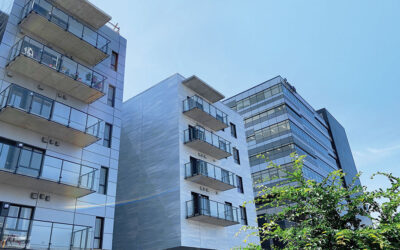 Quebéc City eco-district 70-unit apartment employs green roof, structural thermal breaks