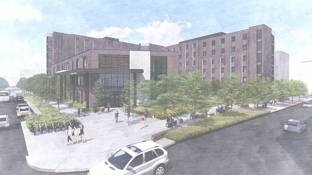 """CU Denver new City Heights Residence Hall celebrates official """"topping out"""""""