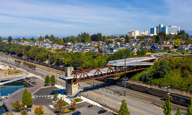 LMN Architects announces completion of the Grand Avenue Park Bridge in Everett, Washington