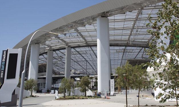 AGC Inc.'s Fluon® ETFE fluoropolymer film installed on SoFi Stadium roof