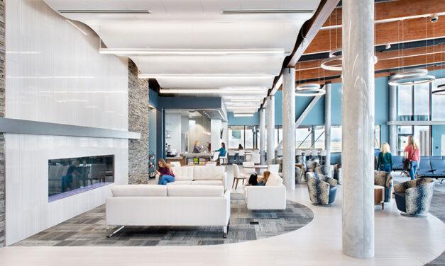 Rockfon's metal ceiling systems help Helena Regional Airport reach new heights