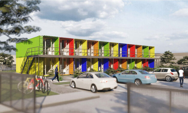 Merriman Anderson/Architects designs affordable housing using shipping containers