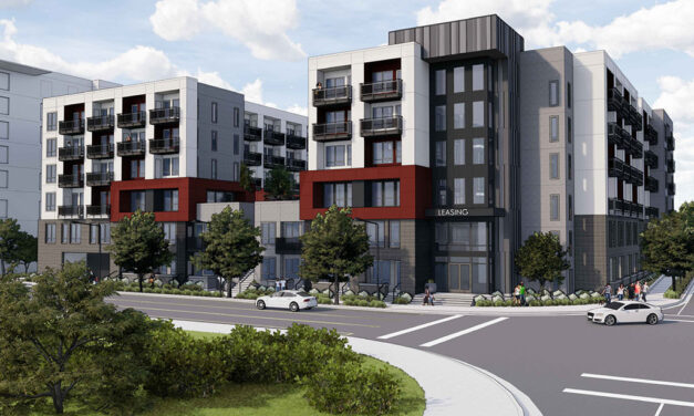 Affordable housing development is currently under construction in Santa Clara, California