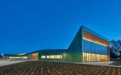 Thaden School's building designs inspired by agriculture, aviation and a classic sports car