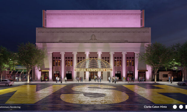 Historic Newark Symphony Hall unveils new façade, streetscape design
