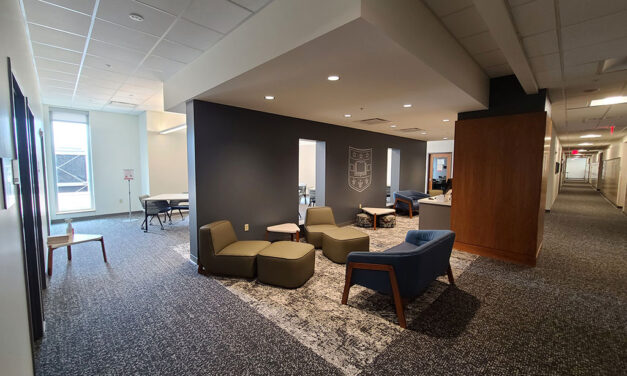 KWK Architects designs new study lounges/simulated exam rooms at Washington University Medical School's Farrell Learning and Teaching Center