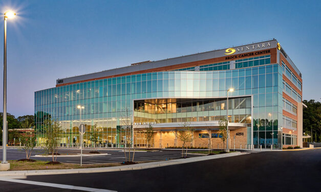 Sentara Brock Cancer Center features Acurlite skylight finished by Linetec in durable anodize