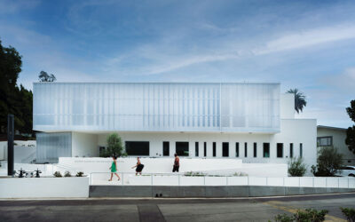 Glorya Kaufman Performing Arts Center transforms former temple with EXTECH's translucent LIGHTWALL system